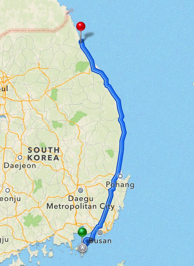 Road Trip from Geoje to Seoraksan