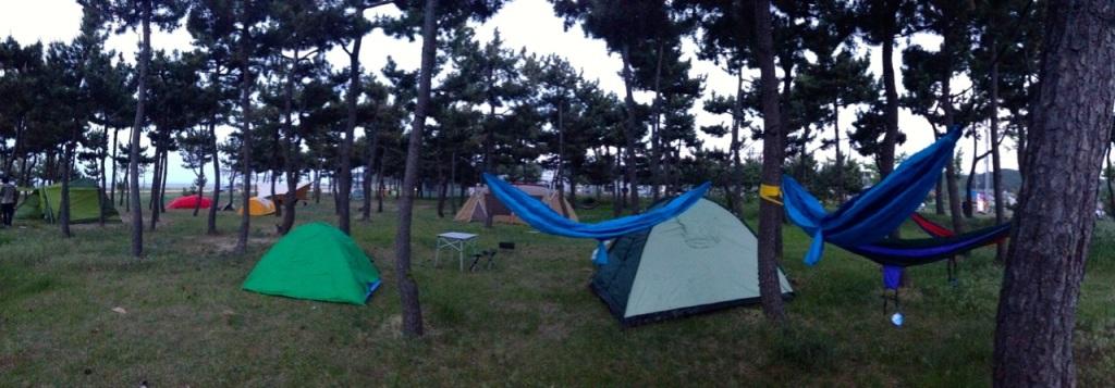 Camping near Seoraksan