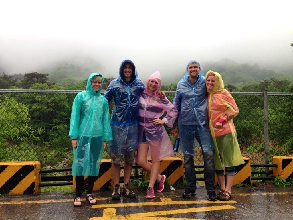 The English Travelers at Seoraksan in the Rain