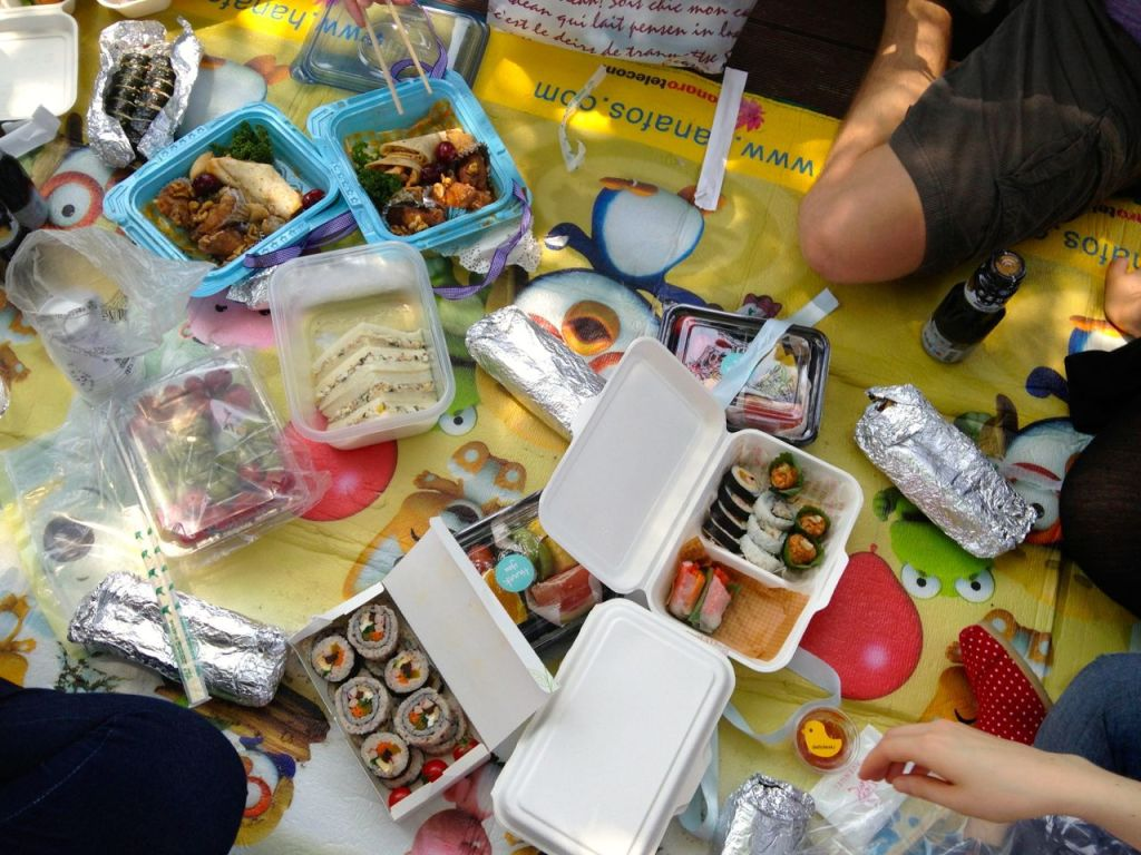 Typical Picnic Lunch in South Korea