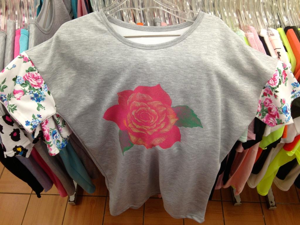 Korean T-Shirt: Rose