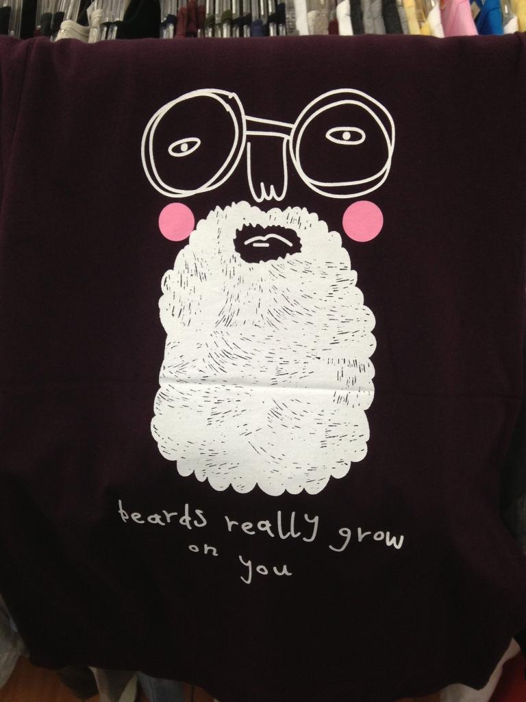 Korean T-Shirt: Beards really grow on you