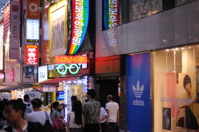 Shopping in Myeongdong Seoul