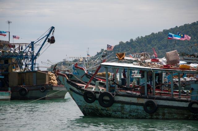 Borneo KK Fishing Boats