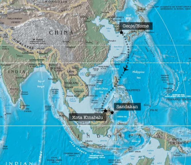 Borneo Trip Map