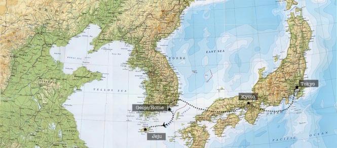 Japan Korea Map