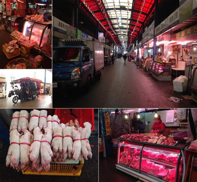 Largest Meat Market in Seoul