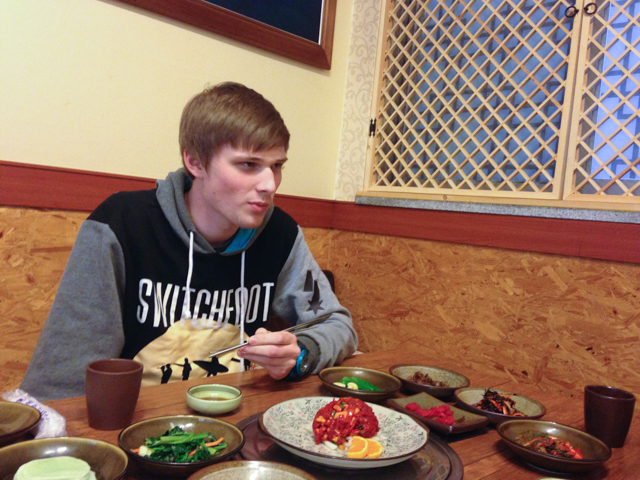 Eating Horse Meat in Jeju