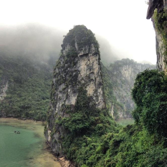 Halong Bay on a Rainy Day