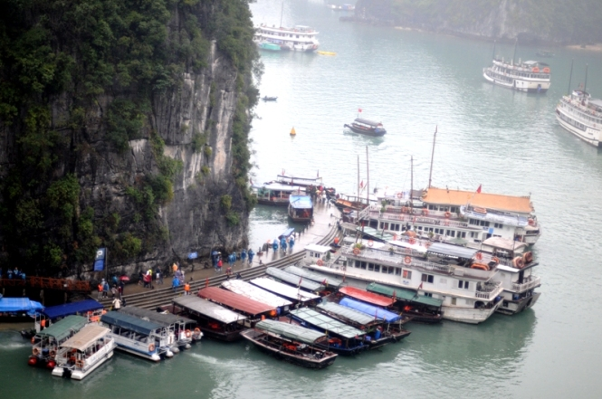 Halong Bay in the Rain