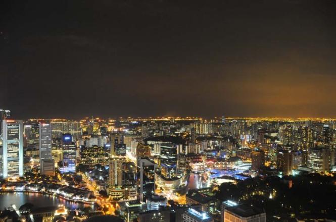 The Beautiful City of Singapore, Skyline View