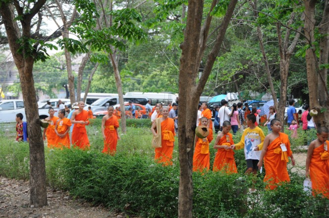 Monks at Ancient Ayutthaya