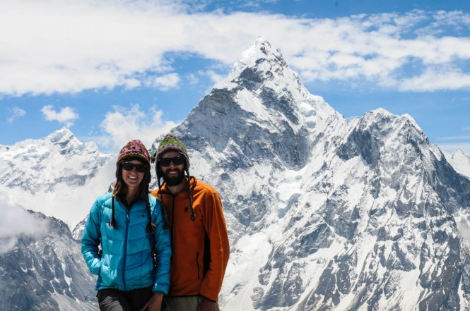 The English Travelers in front of Mount Amadablam