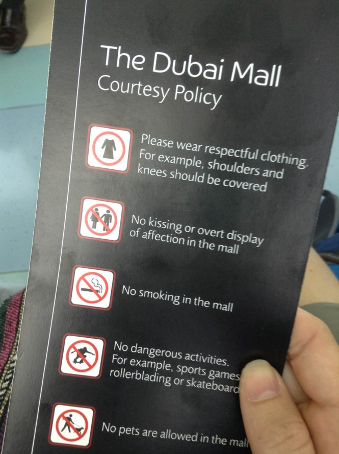 Dubai Mall Rules