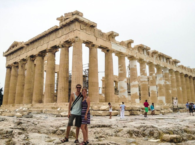 Exploring the Acropolis in Athens