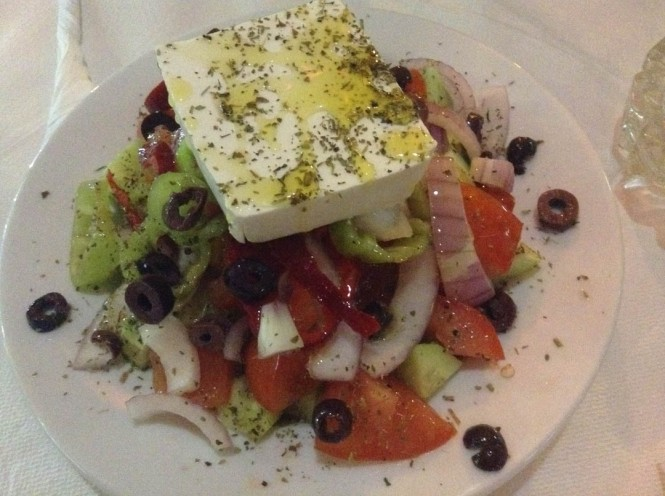 Greek salad in Greece